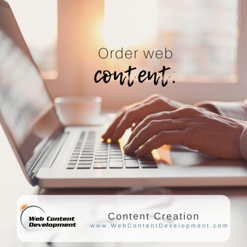Order web content.