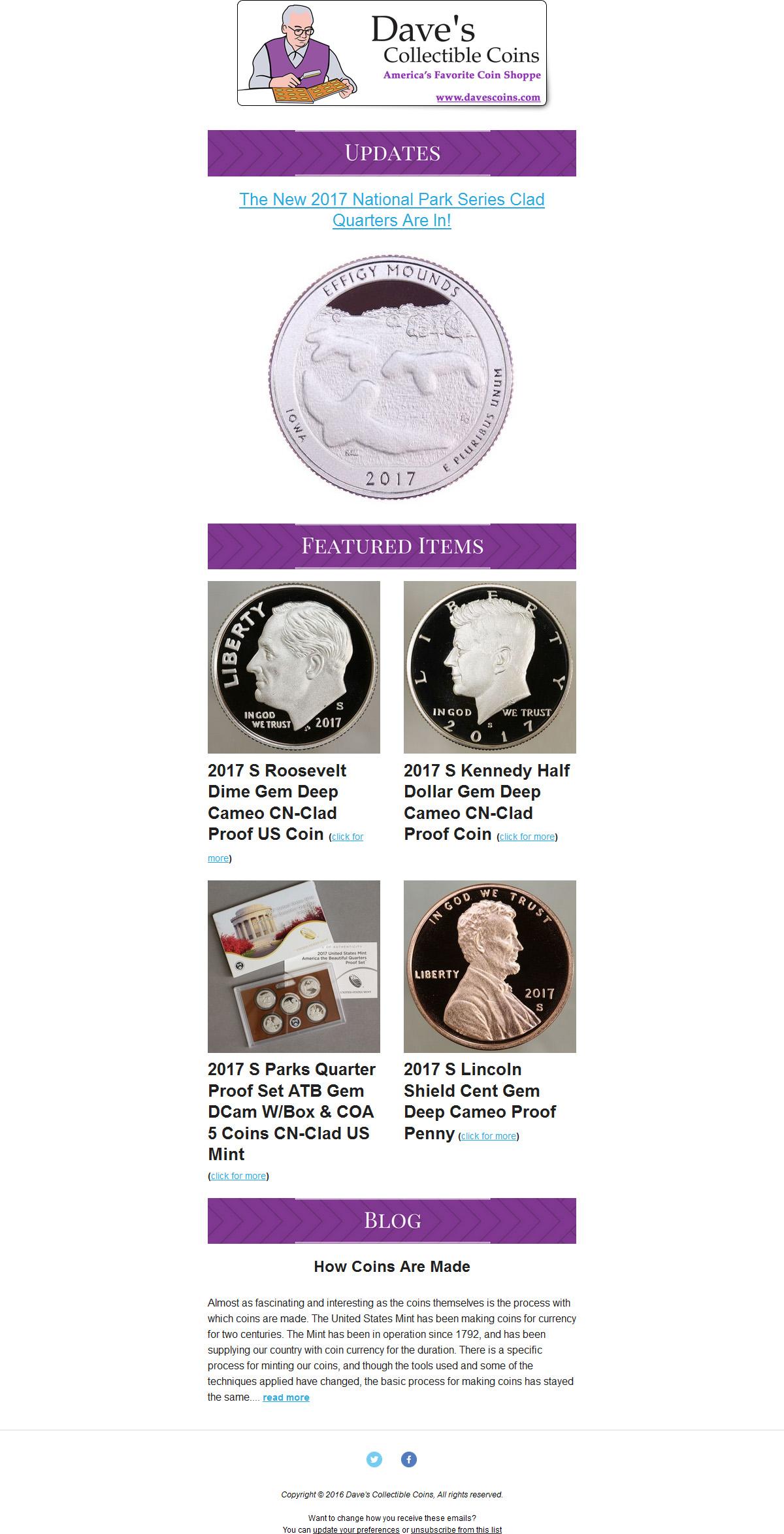 Dave's Collectible Coins