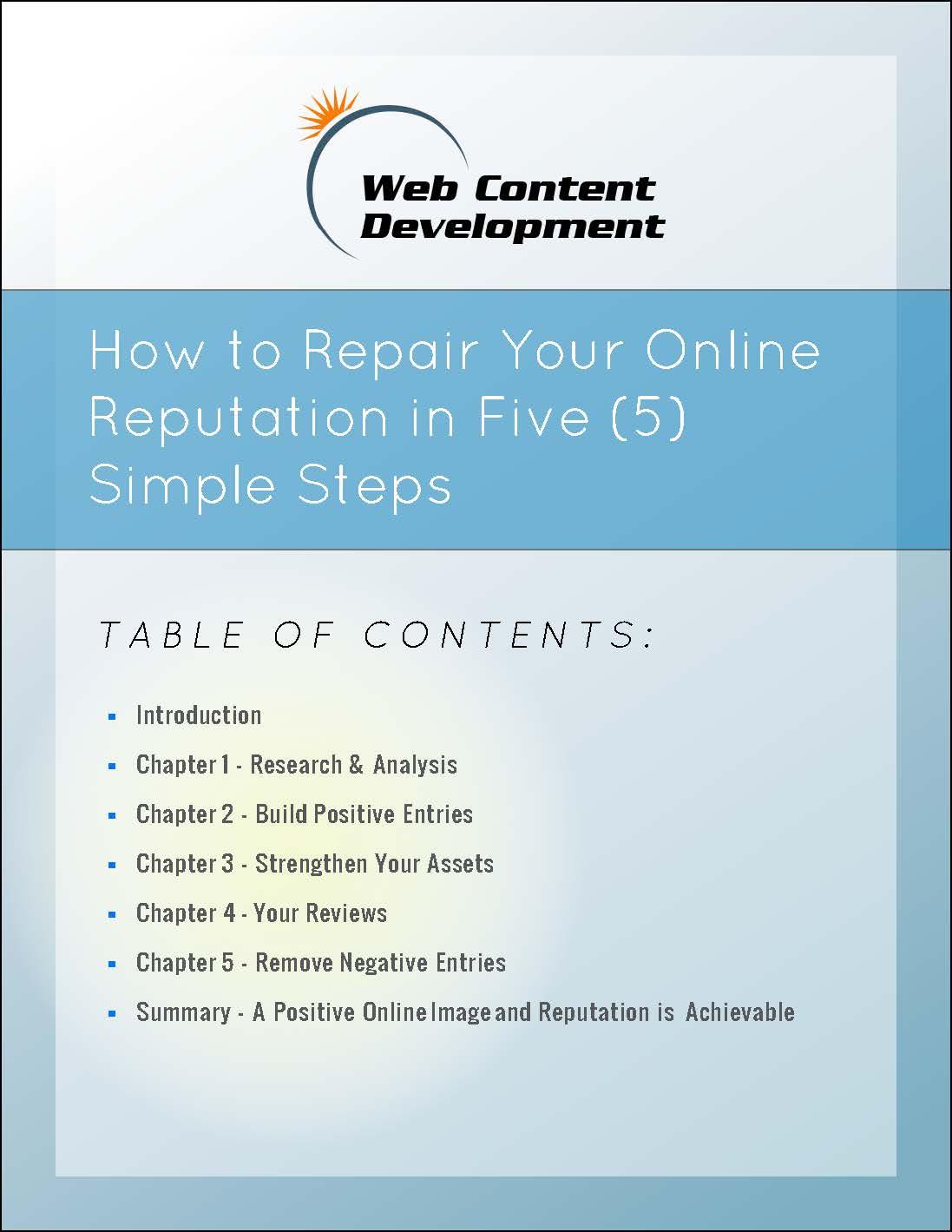 Repairing your Online Reputation