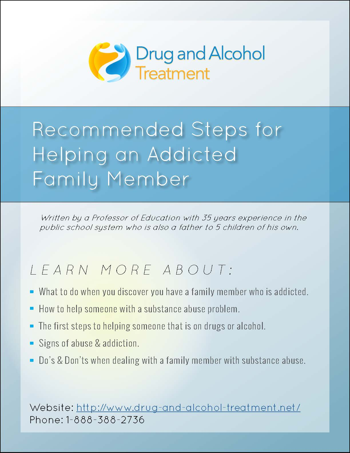 Recommended Steps for Helping an Addicted Family Member