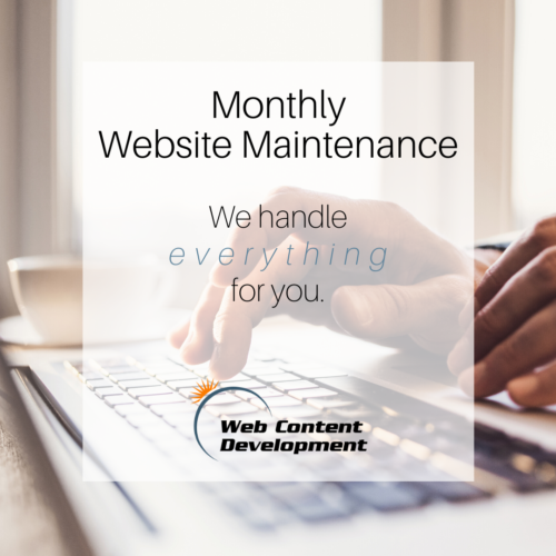 Website maintenance package from Web Content Development.