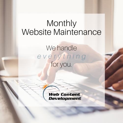 Website maintenance package from Web Content Development.